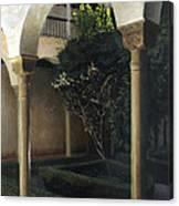 Courtyard Garden Canvas Print