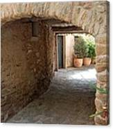 Courtyard In The Village Canvas Print