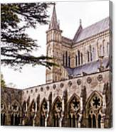 Courtyard Salisbury Cathedral - England Canvas Print