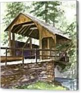 Covered Bridge At Knoebels  Canvas Print