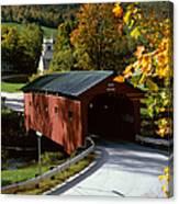 Covered Bridge In Vermont Canvas Print