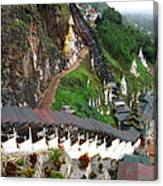 Covered Stairway To The Pindaya Caves Canvas Print