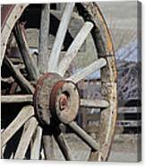 Covered Wagon Wheel Canvas Print