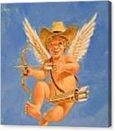 Cow Kid Cupid Canvas Print