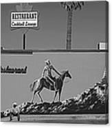 Cowboy Billboard  Canvas Print