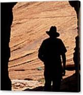 Cowboy Caveman Canvas Print