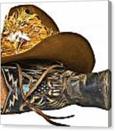 Cowboy Hat And Boot Canvas Print