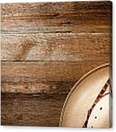 Cowboy Hat On Wood Canvas Print