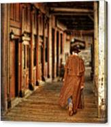 Cowboy In Old West Town Canvas Print