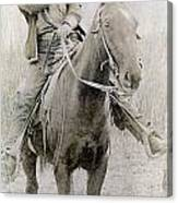 Cowboy Robber, C1900 Canvas Print
