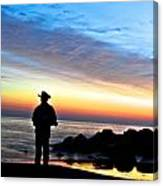 Cowboy Sunrise Canvas Print