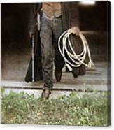 Cowboy With Guns And Rope Canvas Print