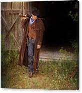Cowboy With Guns Canvas Print