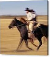 Cowboys Racing Horses Canvas Print