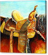 Cowgirl Saddle Canvas Print