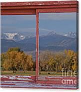 Cows Life Colorado Autumn Rocky Mountains Picture Window Art Canvas Print