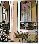 Cozy Arches Canvas Print