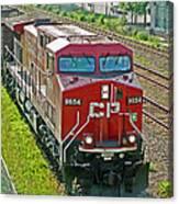 Cp Rail Engine Canvas Print