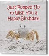 Crab Happy Birthday Canvas Print
