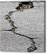 Crack In The Street Canvas Print