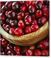 Cranberries In A Bowl Canvas Print