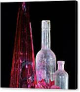 Cranberry And White Bottles Canvas Print