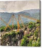 Crane On The Mountain Canvas Print