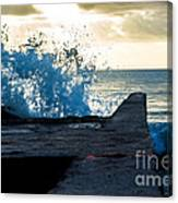 Crashing Blue Canvas Print