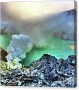 Crater Ijen Canvas Print