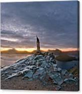 Crater Lake Autumn Dawn Canvas Print