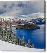 Crater Lake Panorama 1 Canvas Print