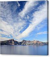 Crater Lake Sky Canvas Print
