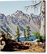 Crater Lake Through Nature Canvas Print
