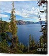 Crater Lake Through The Trees Canvas Print