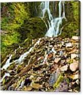 Crater Lake Waterfall Canvas Print