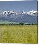 Crazy Mountain Range Canvas Print