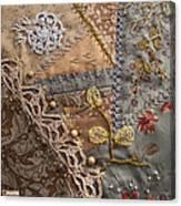 crazy quilt block May Canvas Print