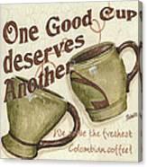 Cream Coffee 2 Canvas Print