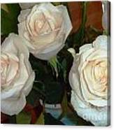 Creamy Roses II Canvas Print