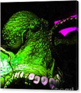 Creatures Of The Deep - The Octopus - V6 - Green Canvas Print