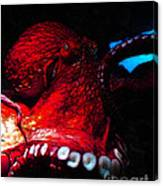 Creatures Of The Deep - The Octopus - V6 - Red Canvas Print