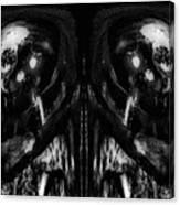 Black And White Mirror Canvas Print