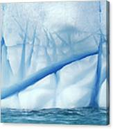 Crevasses Created By The Melting Canvas Print