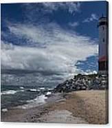 Crisp Point Lighthouse 5 Canvas Print