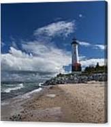 Crisp Point Lighthouse 6 Canvas Print