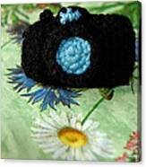 Crochet Camera Color Canvas Print