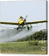 Crop Dusting Plane In Action Canvas Print