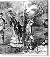 Croquet, 1873 Canvas Print