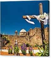 Cross At Mission San Jose Texas Canvas Print