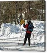 Cross Country Skier On Cape Cod Canvas Print